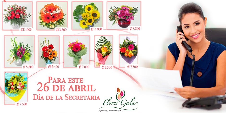 arreglos florales dia de la secretaria