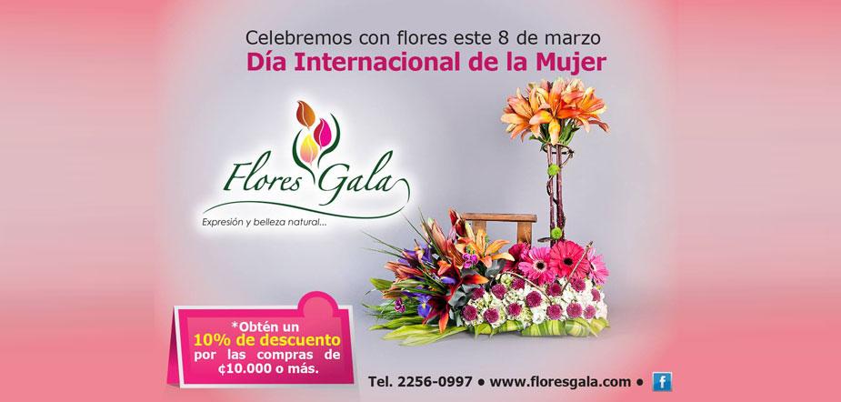 ramos de flores para el dia internacional de la mujer en costa rica
